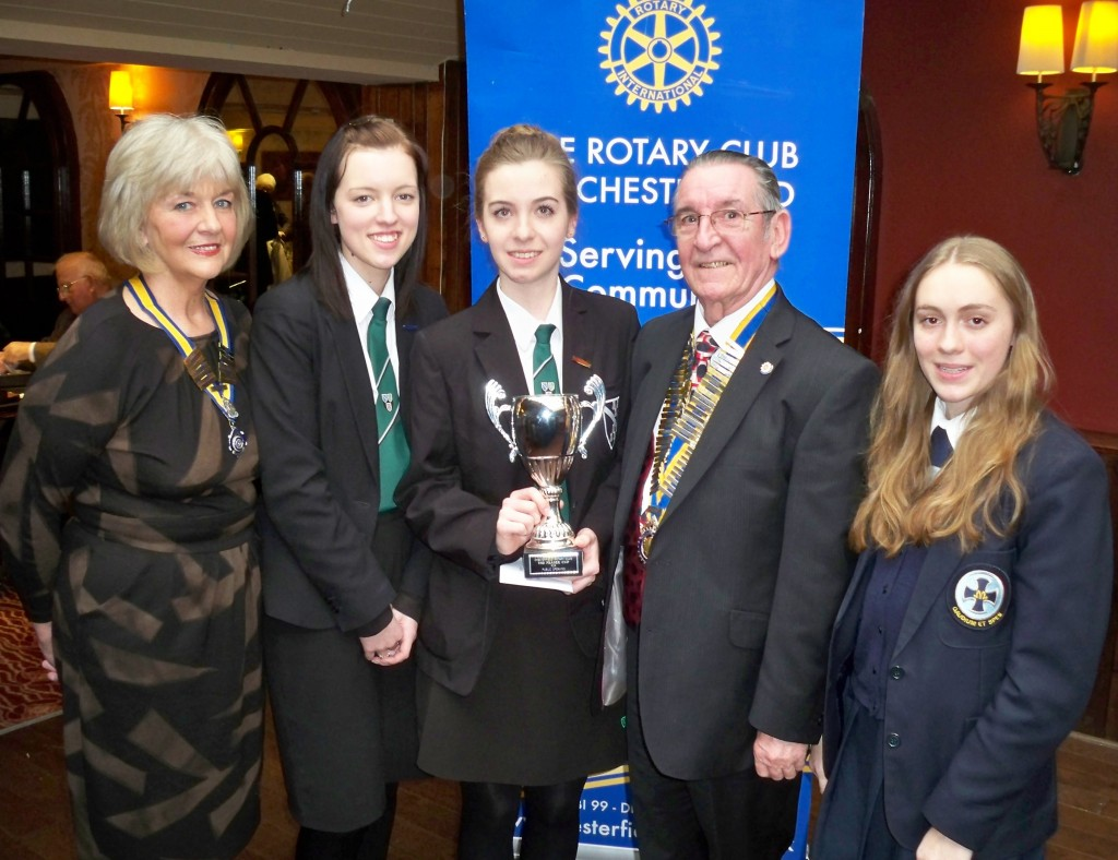 Pictured are winners of the speaking competition 2013