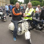 Ray Copley from Killamarsh with the winning Classic Scooter
