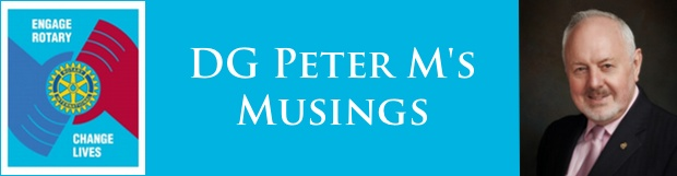 DG Peter M's Musings – August 2013