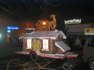The Christmas float