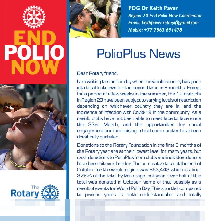 Cover of Polio Plus News